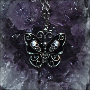 Jewelry - Skull Butterfly Necklace